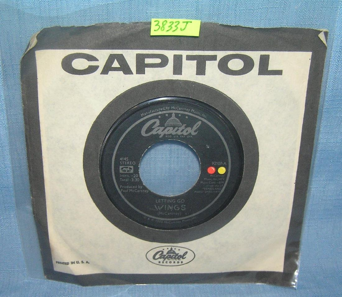 Wings with Paul McCartney vintage 45 RPM record