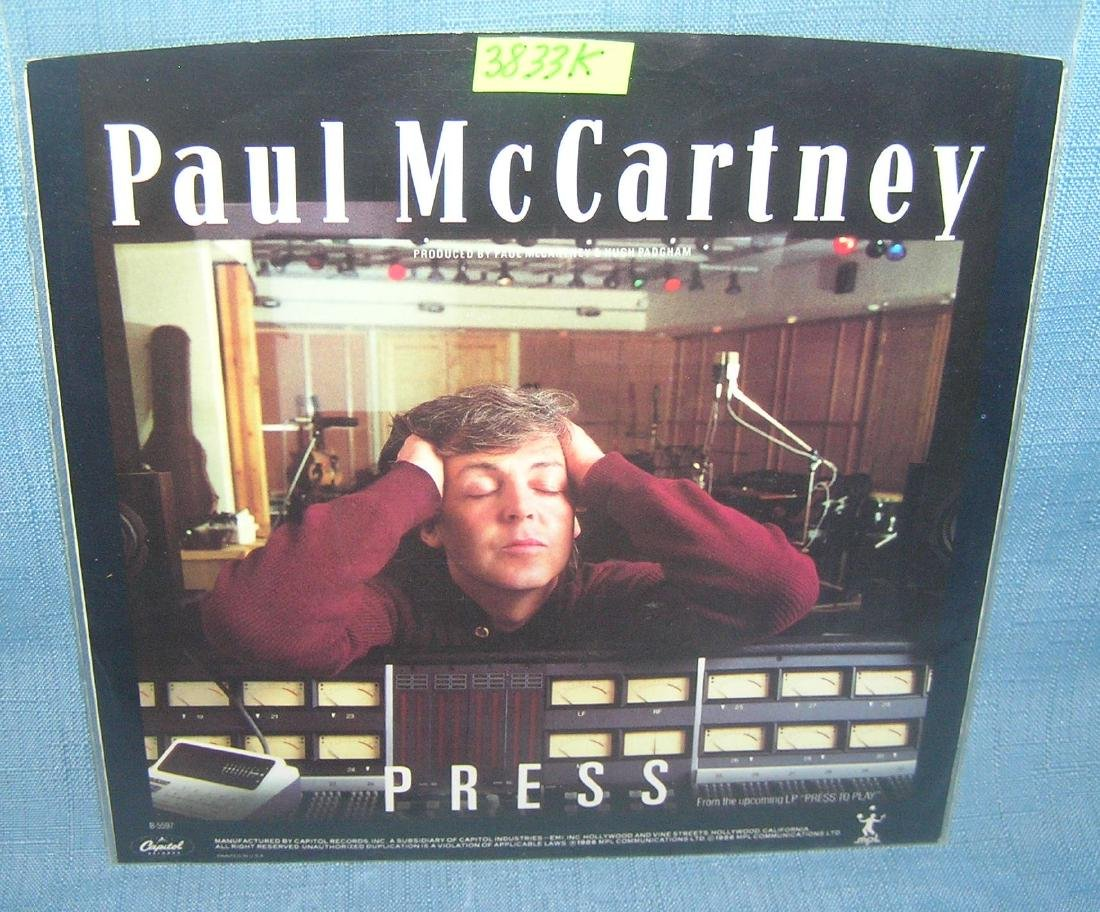 Paul McCartney vintage 45 RPM record