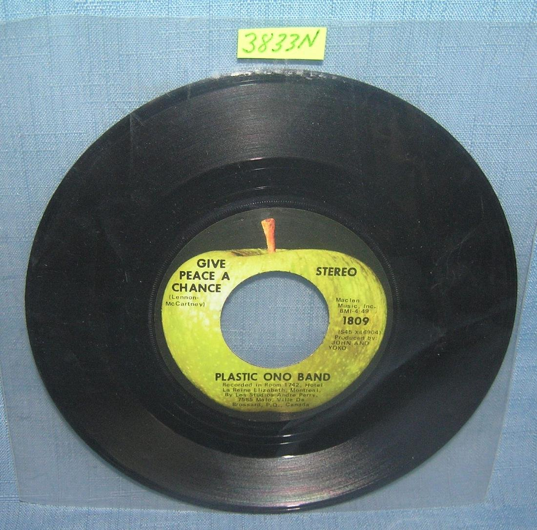 Yoko Ono and the Plastic Ono Band vintage 45 RPM record
