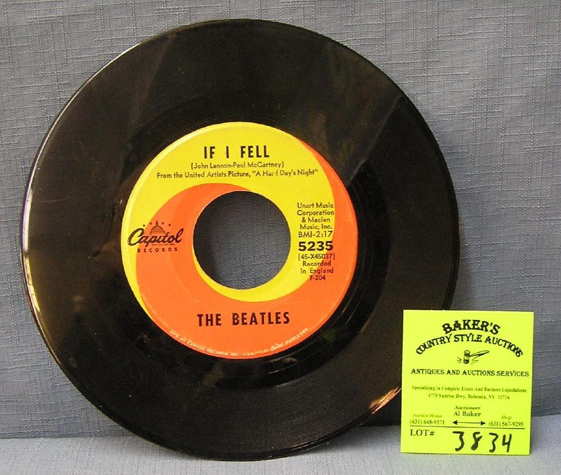 Vintage Beatles 45rpm record