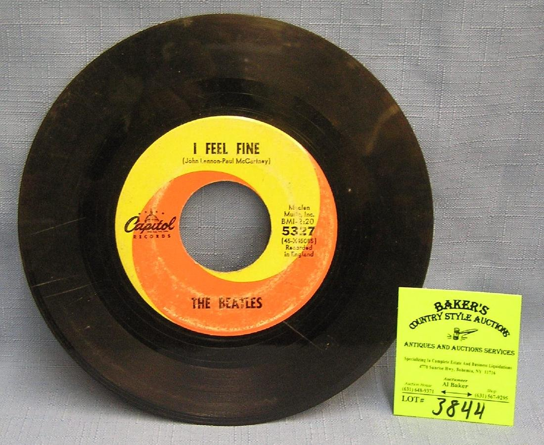 Vintage Beatles 45 rpm record by Capital Records
