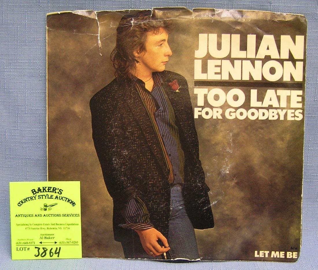 Vintage Julian Lennon 45 rpm record