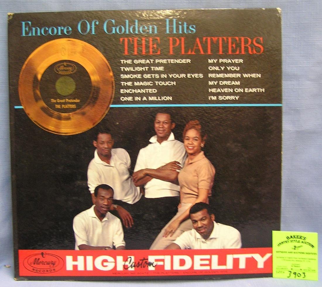 The Platters vintage 33 rpm record album