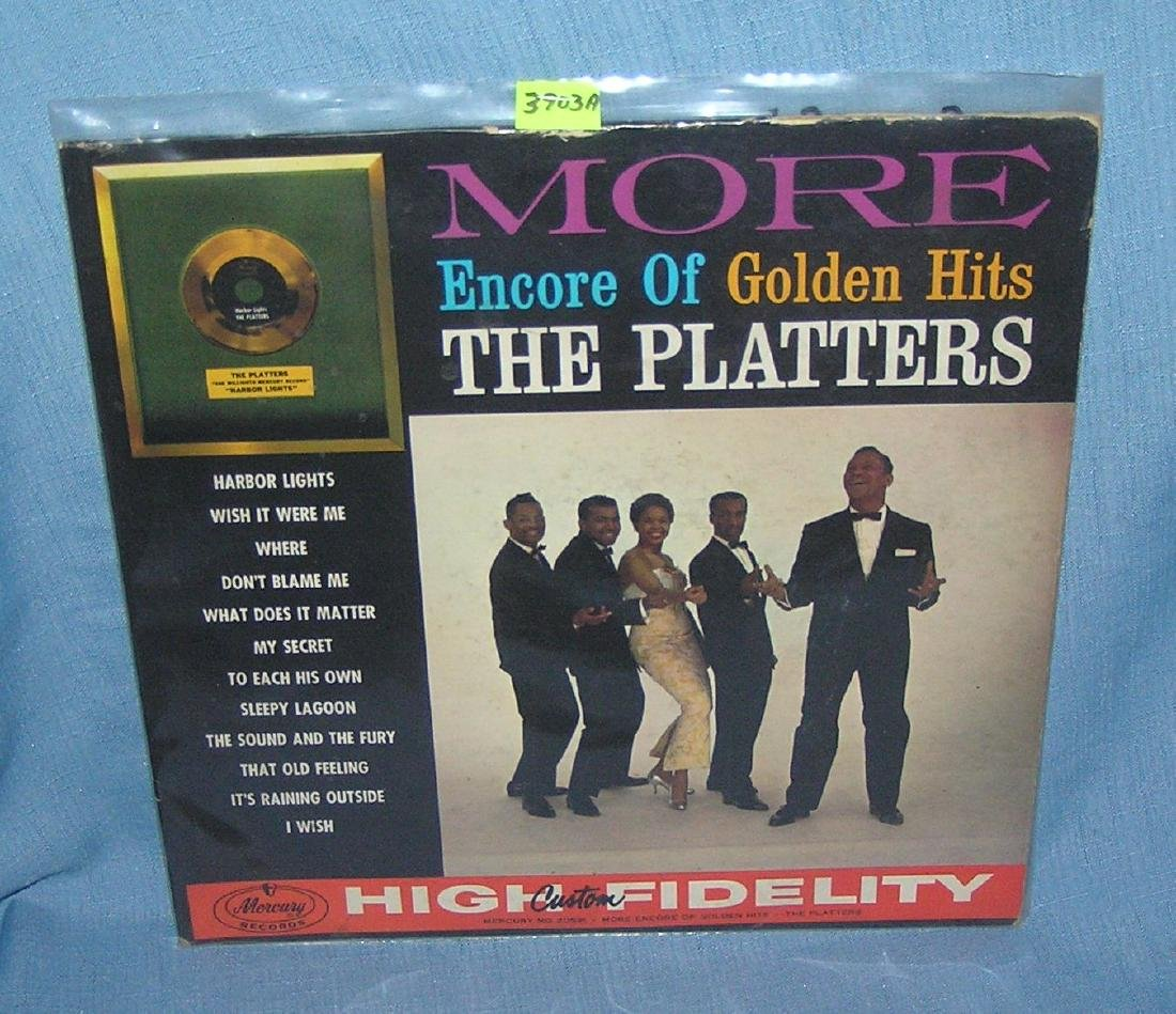The Platters vintage 33 rpm record album