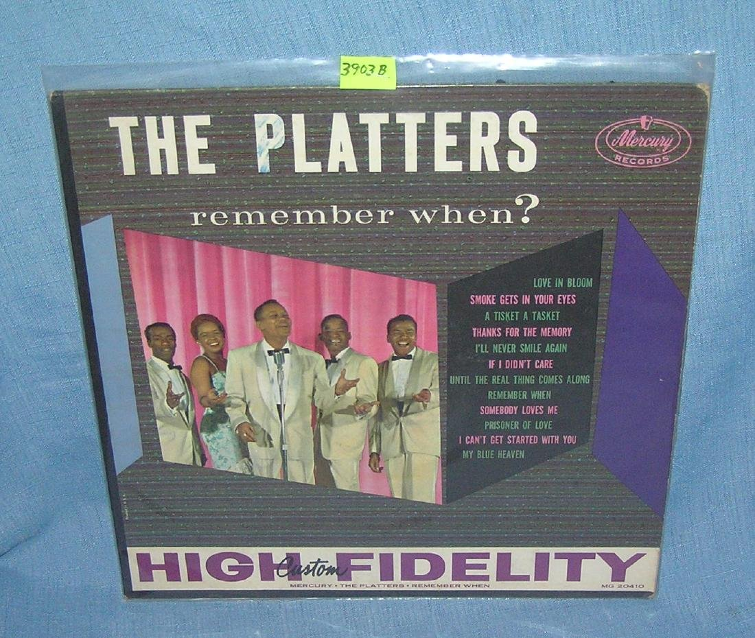 The Platters Remember When vintage 33 rpm record