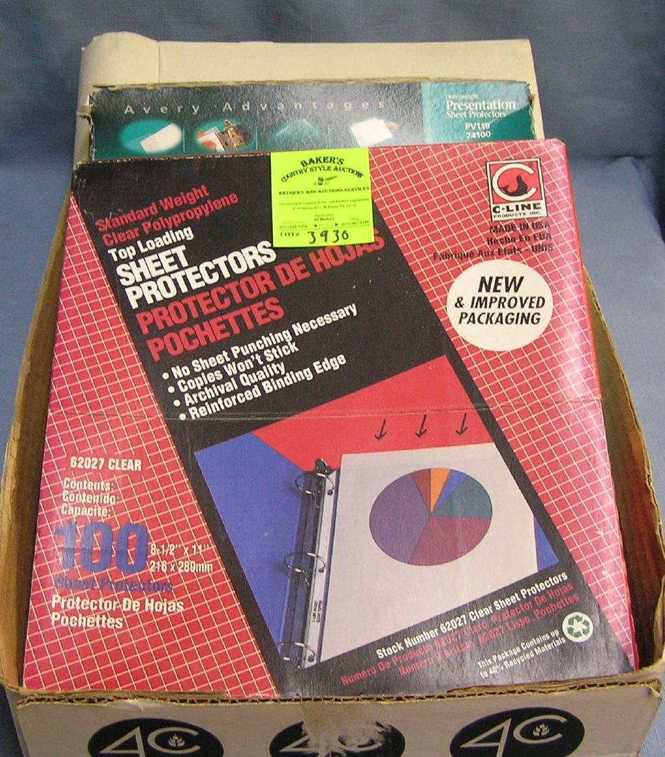 Collectibles clear plastic pages and binder