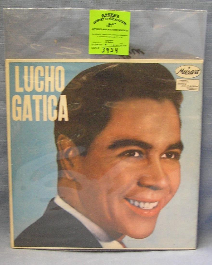 Vintage Lucho Gatica record album
