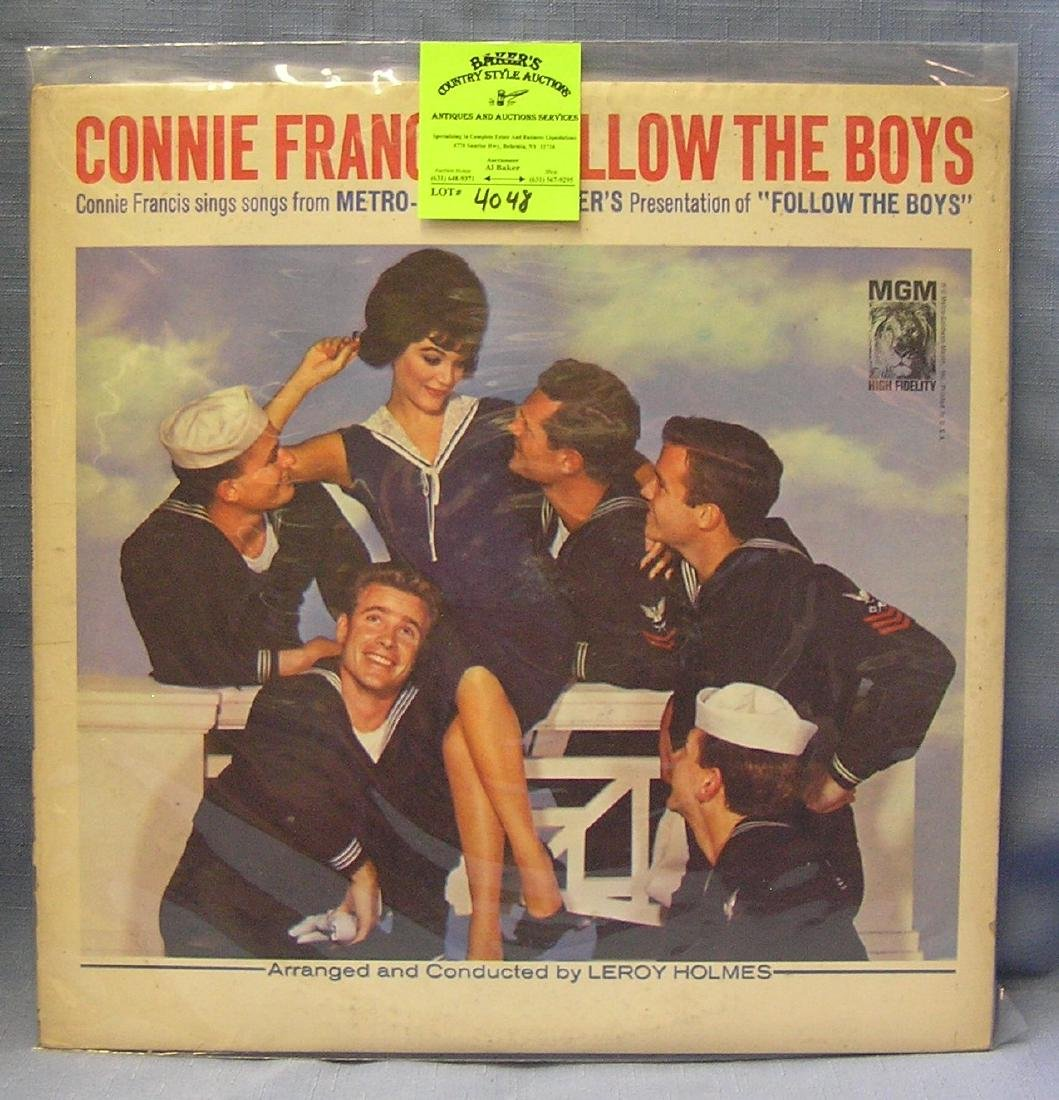 Vintage Connie Francis record album