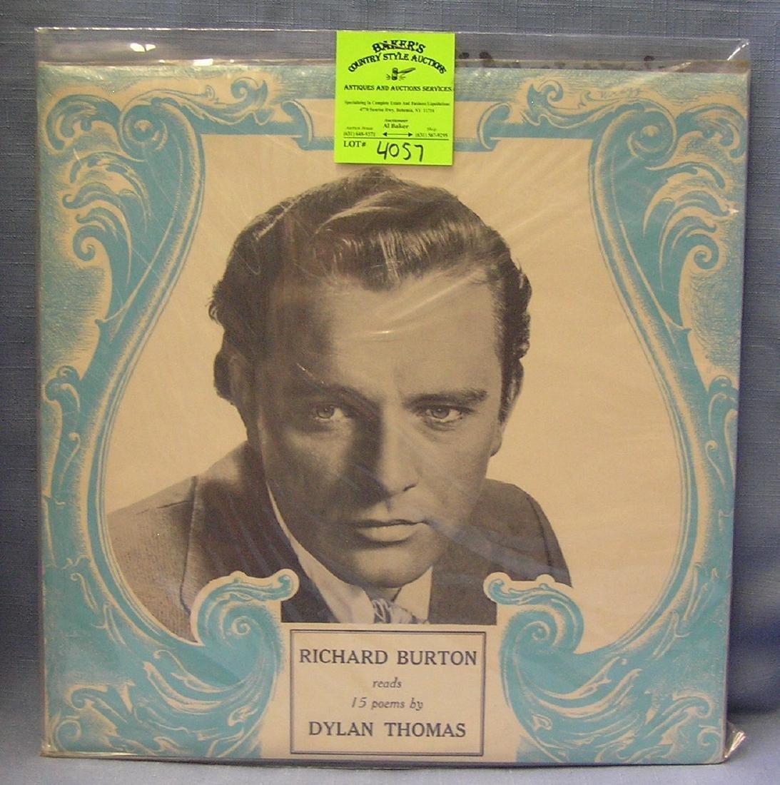 Vintage Richard Burton record album