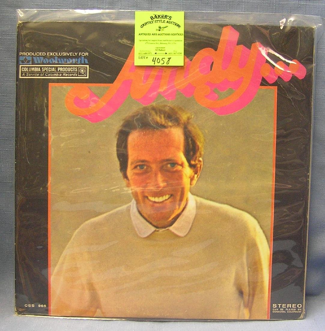 Vintage Andy Williams record album