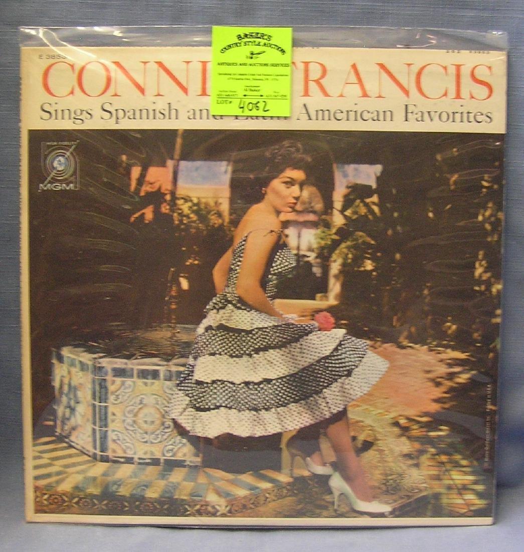 Vintage Connie Francis record album