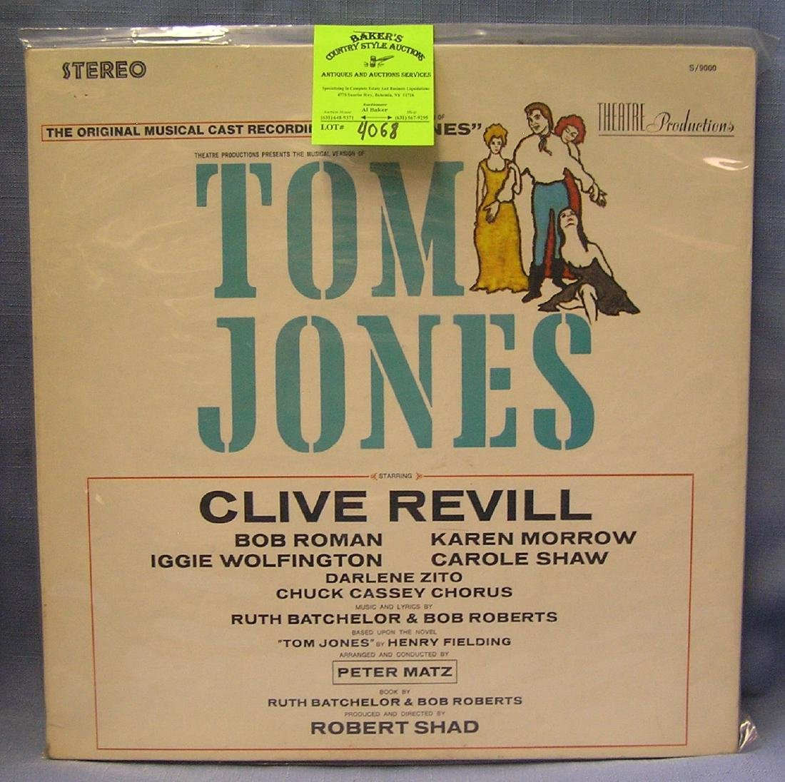 Vintage Tom Jones record album