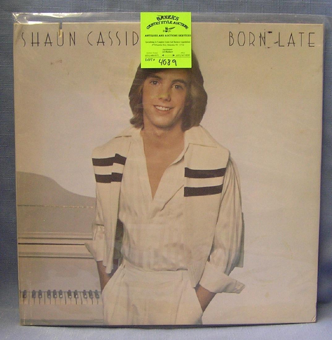 Vintage Shawn Cassidy record album