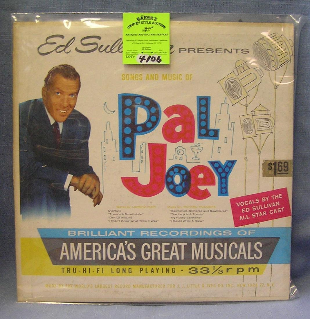 Ed Sullivan Songs And Music Of Pal Joey record album