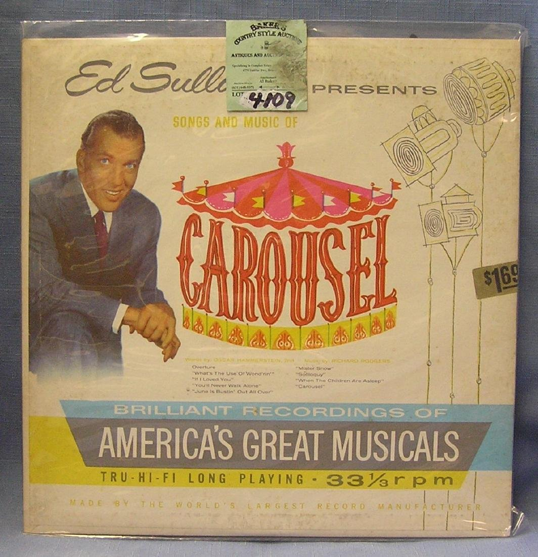 Ed Sullivan Songs And Music Of Carousel record album