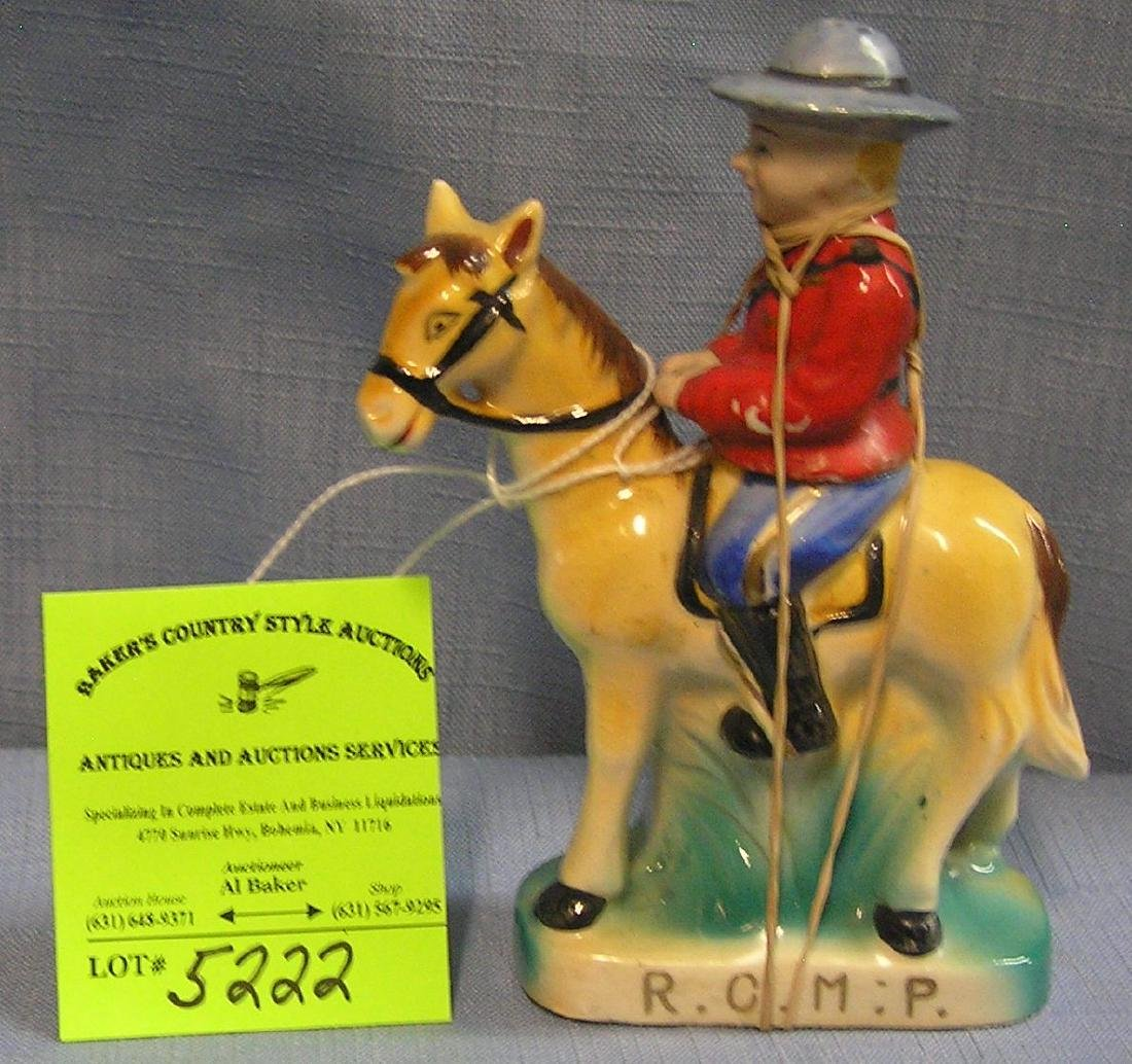 Royal Canadian mounted police figural S&P set
