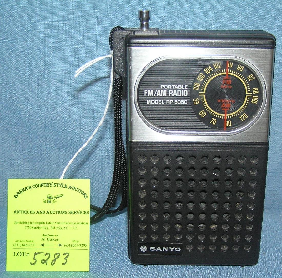 Vintage Sanyo portable AM/FM radio