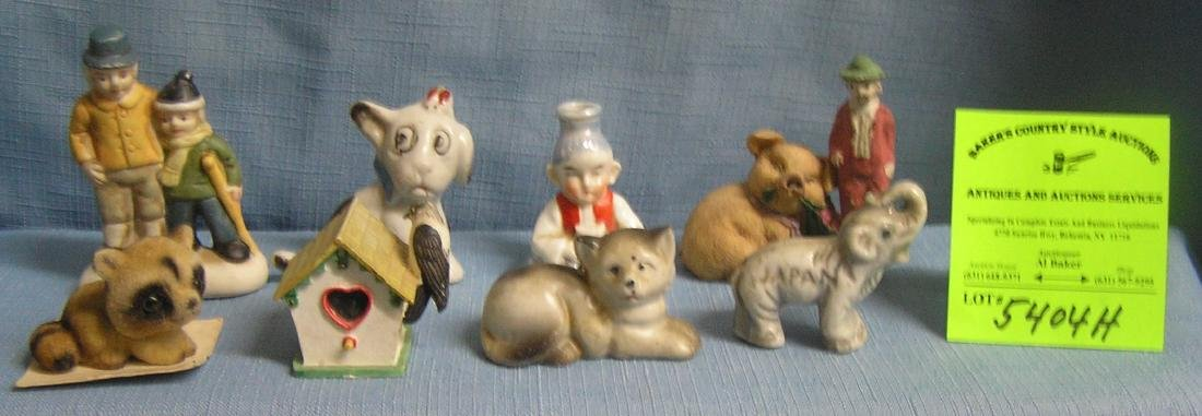 Group of vintage figures and collectibles