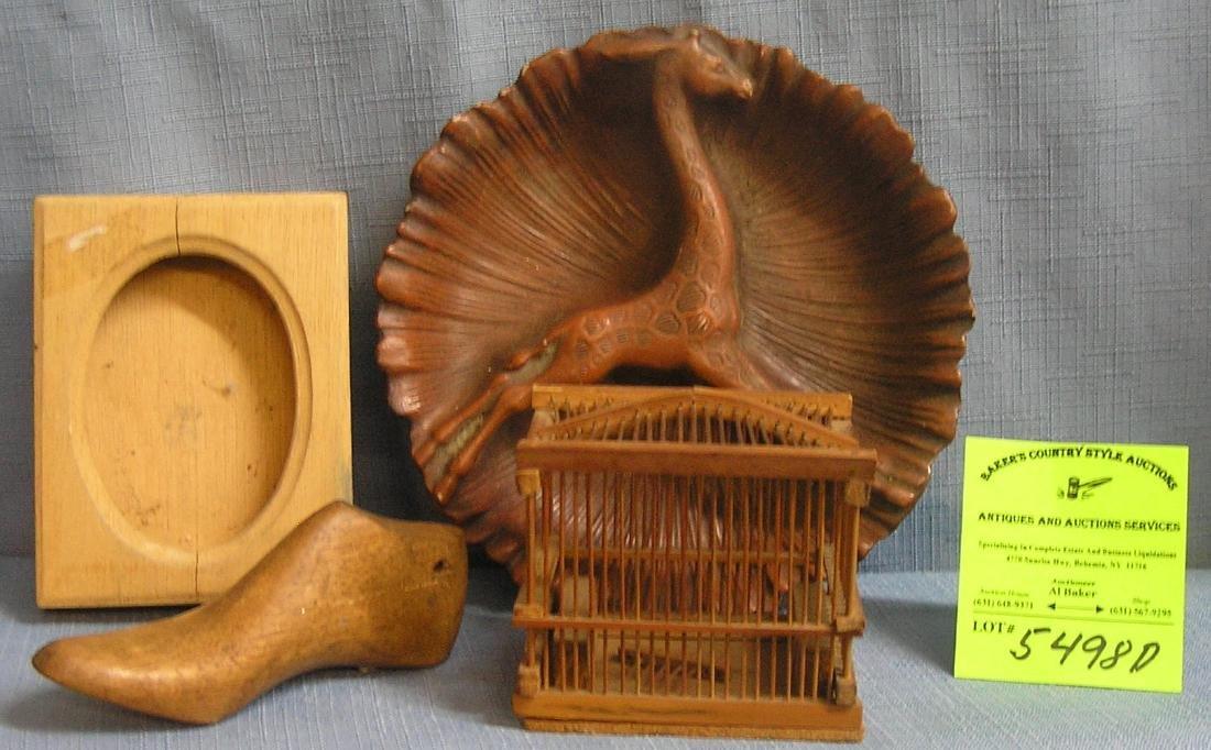 Group of four vintage wooden estate pieces