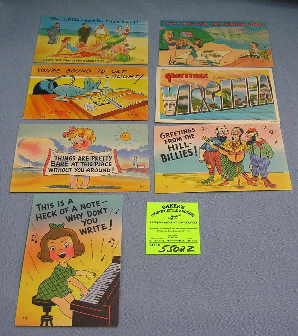 Group of early comic related post cards