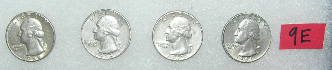 Group of Vintage Silver Washington Quarters
