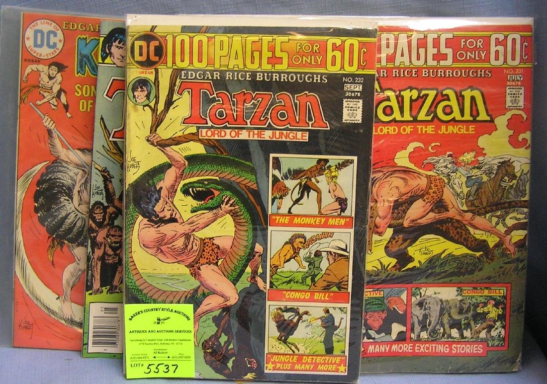 Group of vintage Tarzan comic books