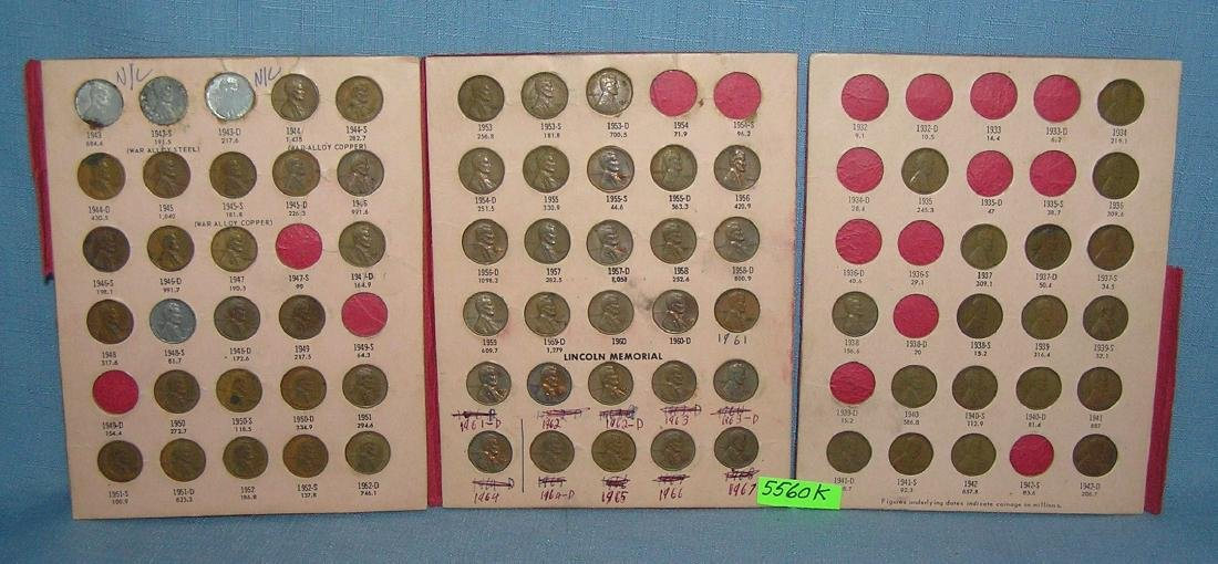 Lincoln penny collection 1934 to 1967