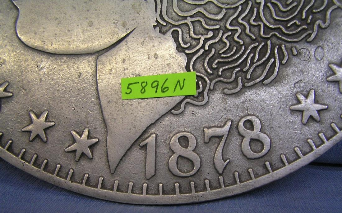 Morgan silver dollar style metal wall plaque - 2
