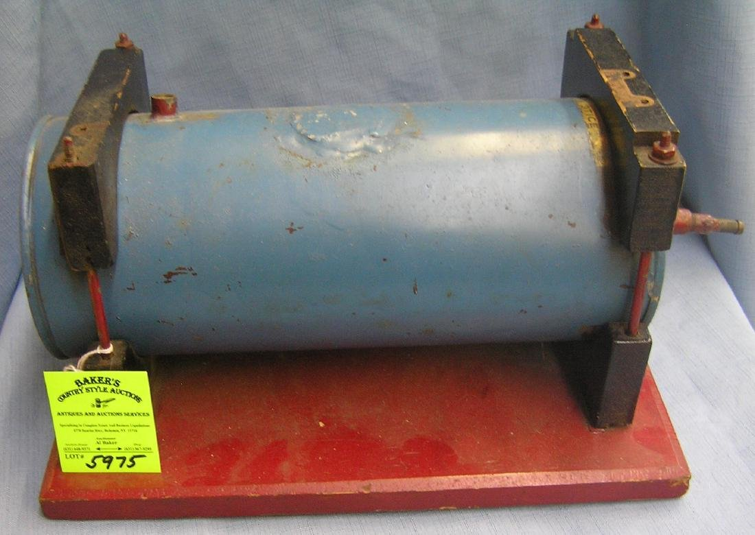 Early steam engine tank toy