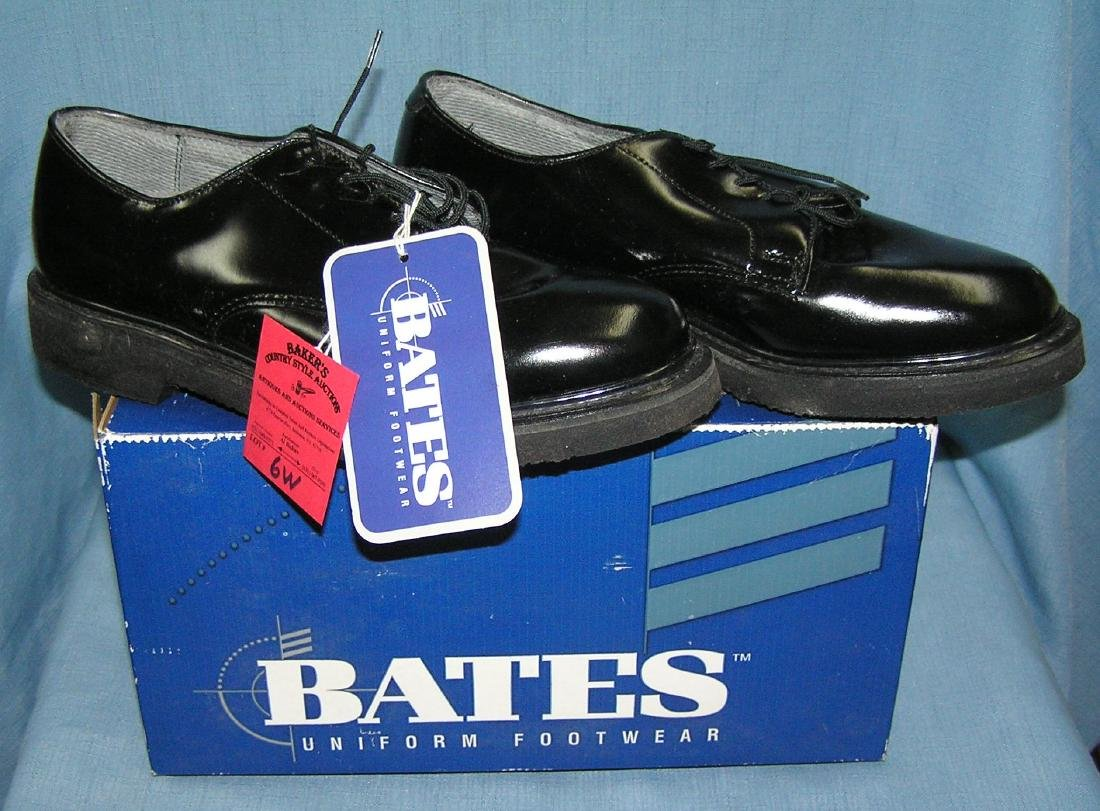 Pair of Bates high quality leather uniform shoes