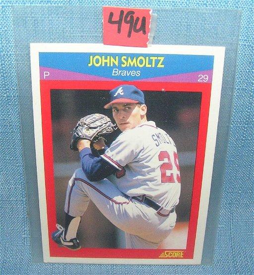 John Smoltz Rookie Baseball Card Jul 21 2018 Bakers