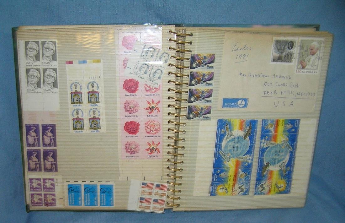 Stamp collector's album stamps, covers and more