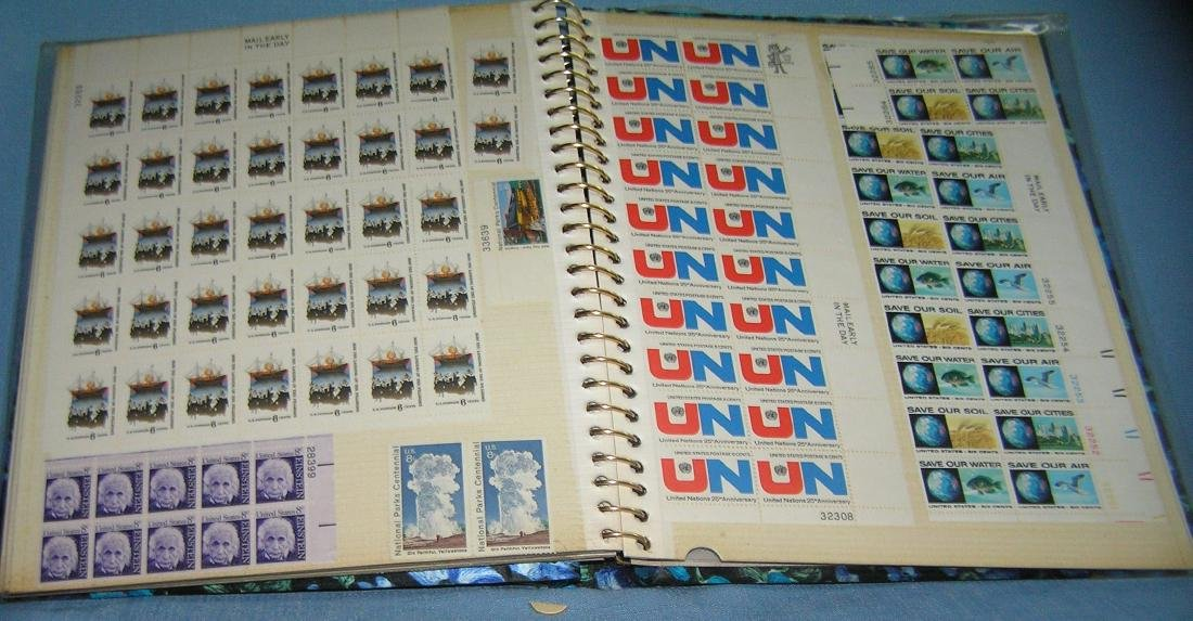Stamp collector's album inc. vintage stamps and more - 10