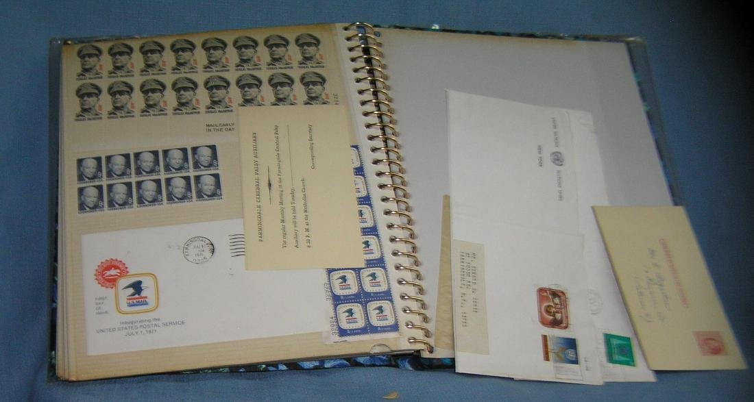 Stamp collector's album inc. vintage stamps and more - 11