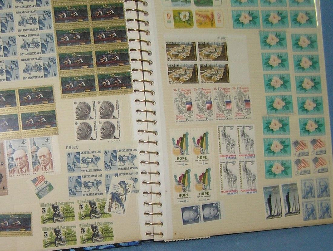 Stamp collector's album inc. vintage stamps and more - 4