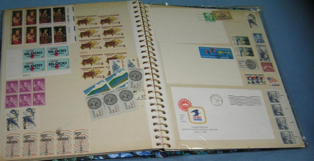 Stamp collector's album inc. vintage stamps and more - 8