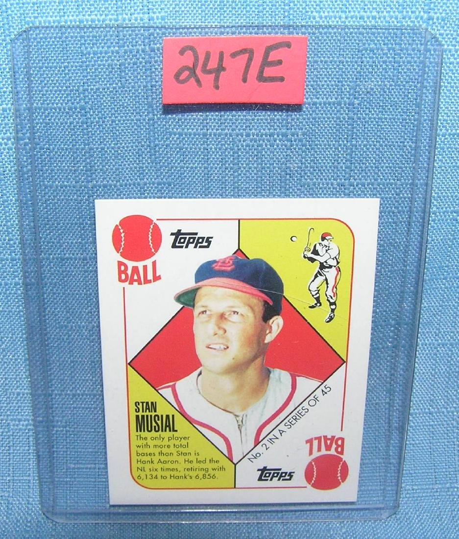 Stan Musial Baseball Card Jul 22 2018 Bakers Antiques And