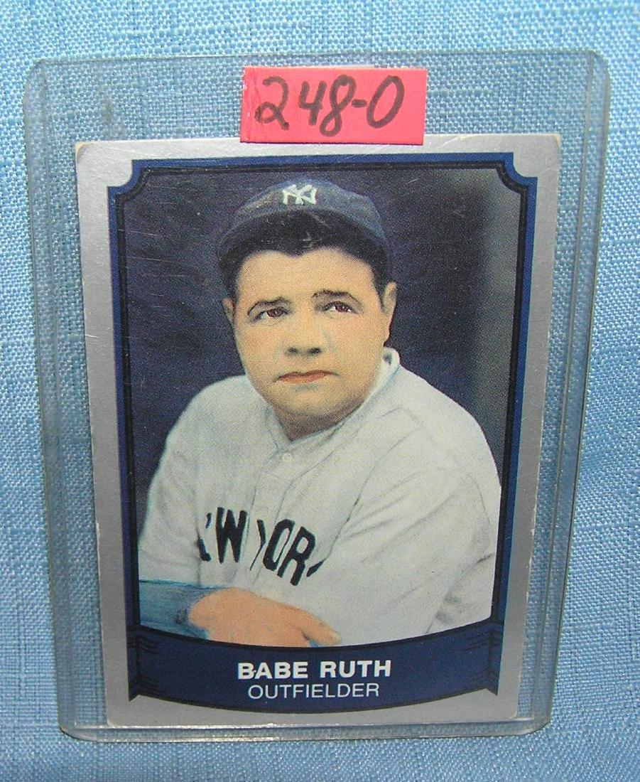 Babe Ruth all star baseball card