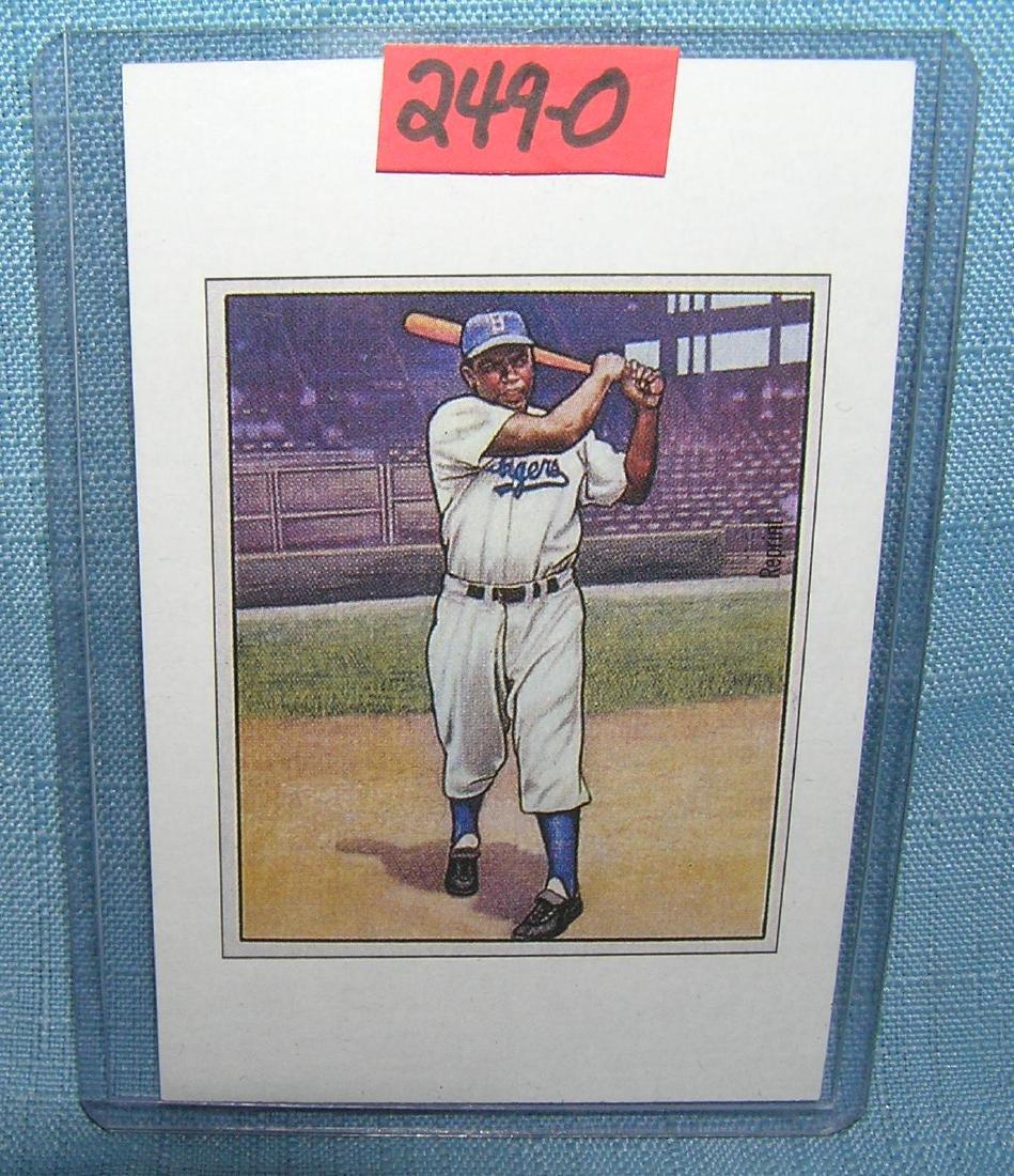 Jackie Robinson Bowman reprint all star baseball card