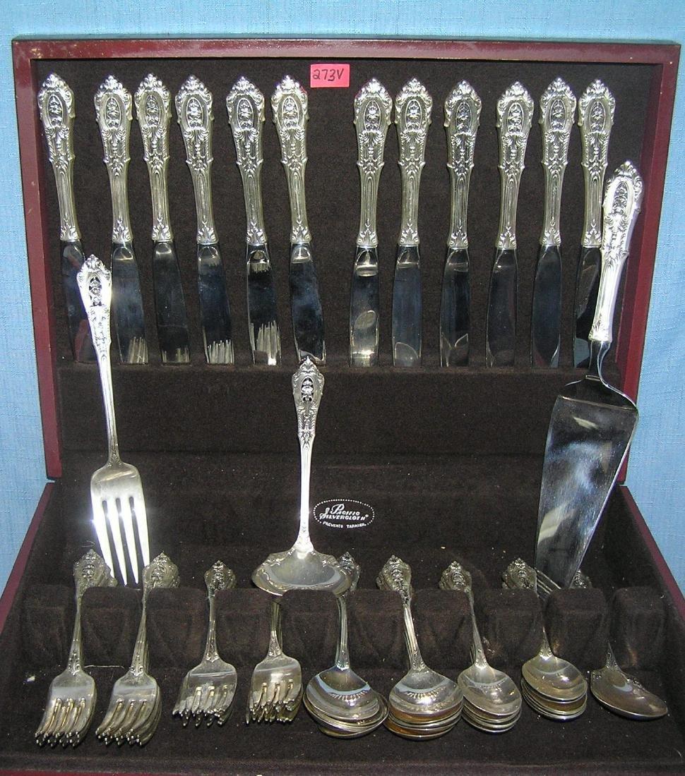 Wallace 76 piece sterling silver flatware set - 2