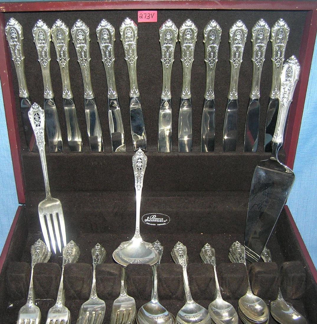 Wallace 76 piece sterling silver flatware set - 4