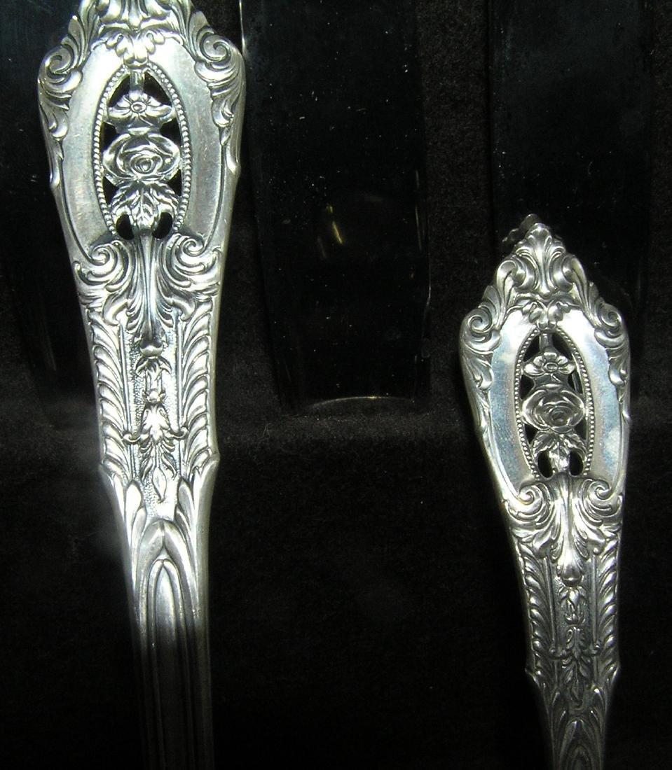 Wallace 76 piece sterling silver flatware set - 6