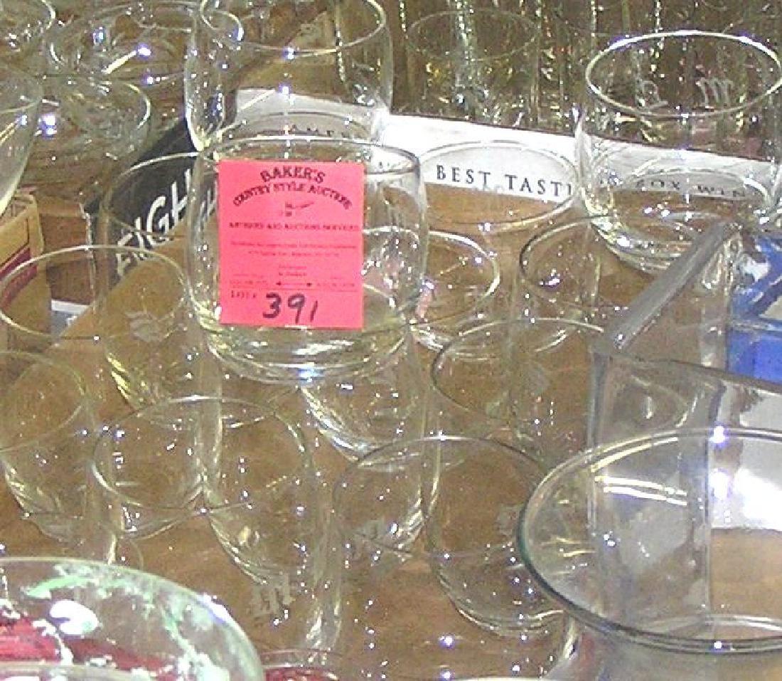 Box of vintage estate drinking glasses