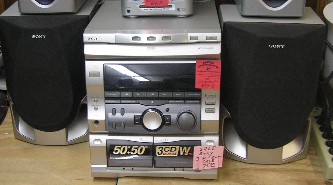 Sony CD, cassette and FM stereo