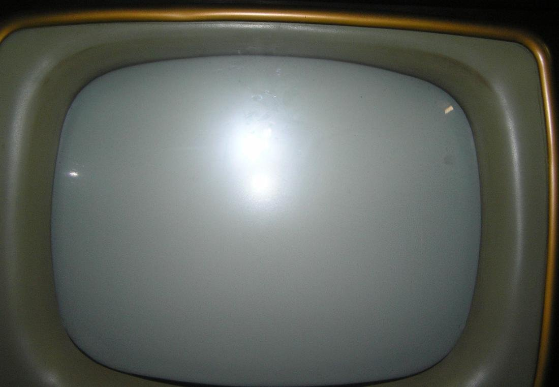 Antique television set in oriental themed cabinet - 2