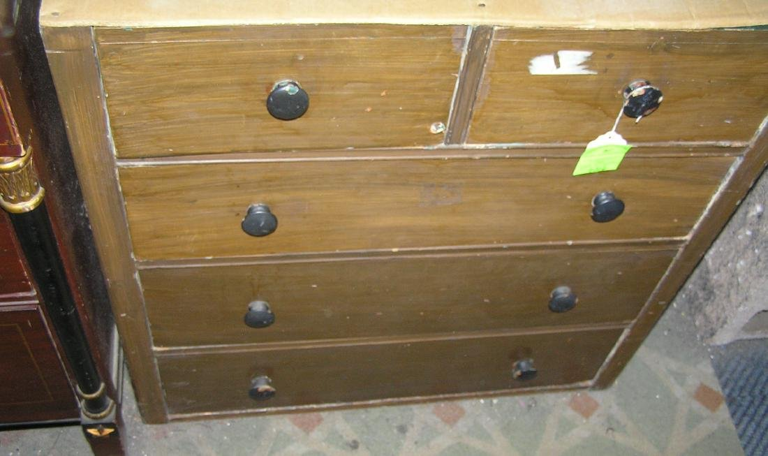 Antique five drawer chest - 2