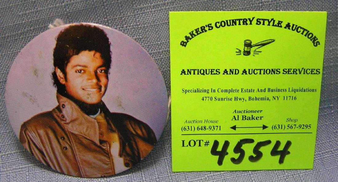 Michael Jackson promotional tour button