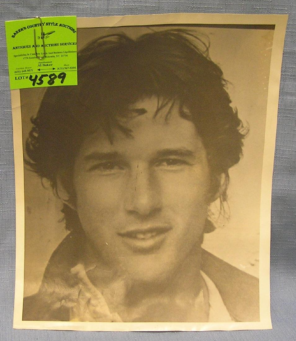Vintage early unsigned Richard Gere photo