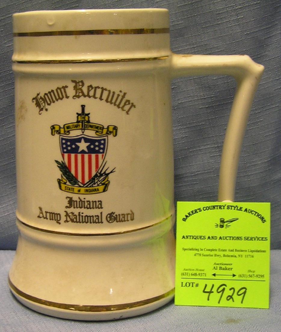 Vintage military recruiters beer mug