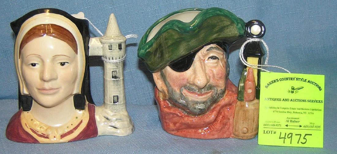 Pair of vintage Royal Dalton Toby mugs